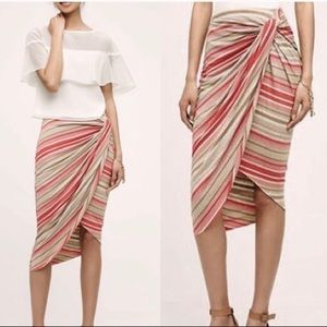 Anthropologie Bailey 44 Striped Knotted Skirt L